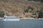 Sun island is located on lake Titicaca. — Photo