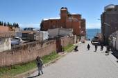 Town of Copacabana  on lake Titicaca — Stock Photo
