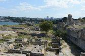 Antike griechische Chersonesus Taurica in der Nähe von Sewastopol auf der Krim. — Stockfoto