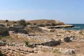 Ancient Greek Chersonesus Taurica near Sevastopol in Crimea. — Foto de Stock
