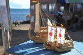 Modeli saz teknelerle — Stok fotoğraf