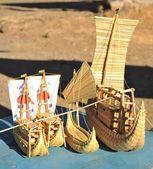 Model reed boats — Stock Photo