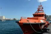 Спасение судна в море порт Барселоны — Стоковое фото