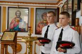 Cadets Novocherkassk Suvorov military school — Stock Photo