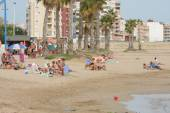 The beach area of the city  in Torrevieja. — Stock Photo