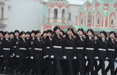 The cadets of the Moscow cadet corps on parade — Stock Photo