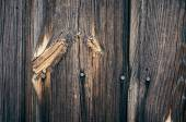 Old brown surface of nature pattern of wooden decorative wall texture surface with knots in details. — Stock Photo