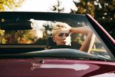 In cabrio — Stock Photo