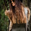 Autumn fashion woman outdoor — Stock fotografie #57657207