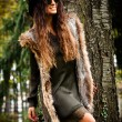 Autumn fashion woman outdoor — Stockfoto #57657241