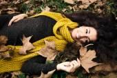 Woman autumn beauty — Stock fotografie