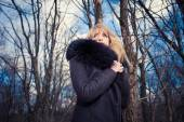 Winter portrait of a woman — Stock Photo