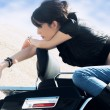 On motorbike — Stock Photo #70410441