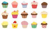 15 cupcakes — Stockfoto