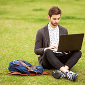 Young fashion male student — Stock Photo