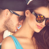 Sexy and fashionable couple — Stock Photo