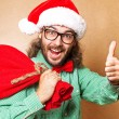Handsome man dressed as Santa Claus. — Stock Photo #57555955