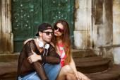 Young fashion couple — Stock Photo