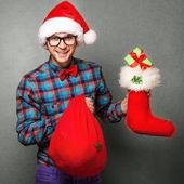 Fashion santa claus — Stock Photo