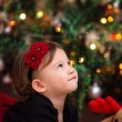 Baby Girl Under Christmas Tree — Stock Photo #63056677