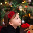 Baby Girl Under Christmas Tree — Stock Photo #63057067