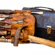 Vintage Tools, Tool Belt, and Lunch Box — Stock Photo #61585677
