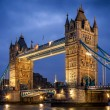 Famous Tower Bridge in the evening, London, England — Stock Photo #53583185