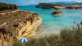 View of the bay of Sidari on Corfu Greece — Stock Photo