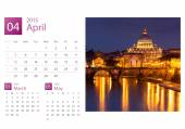 Desk Calendar 2015. Rome, Italy image selection. — Stock Photo