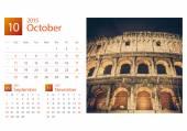 Desk Calendar 2015. Rome, Italy image selection. — Stock Photo