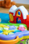 Toy farm and sound toy — Stock Photo