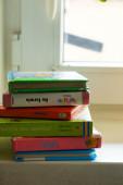 Baby books stack — Stock Photo
