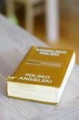 Polish English dictionary — Stock Photo