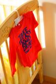 Red child shirt — Stock Photo