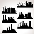 Vector Set of Industrial Buildings — Stock Vector #59816851