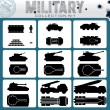 Various Military Vehicles. Vector Icons — Stock Vector #59816917