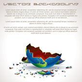 Apocalyptic Background — Stock Vector
