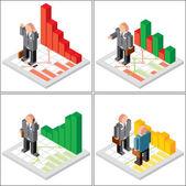 Financial Market Icons — Stock Vector