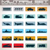 Military Icons Set. — Stock Vector