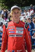 レースカーのドライバー — ストック写真