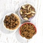 Three nuts — Stock Photo #56148817