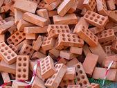 Heap bricks — Stock Photo