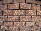 Fragment of the wall of the large concrete blocks — Stock Photo
