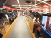 Defocused and blur image of a shop selling household appliances — Стоковое фото