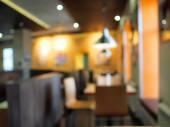 Defocused e borrão restaurante dentro — Fotografia Stock