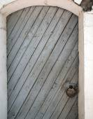 Old door of the wooden planks — Stock Photo
