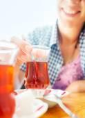 Turkish tea — Stock Photo