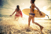 Surfers — Stock Photo