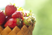 Strawberry on green — Stock Photo