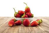 Strawberry on white — Stock Photo
